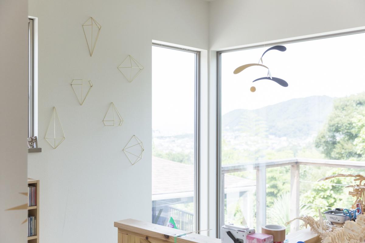 壁にいろいろ飾るアートな部屋