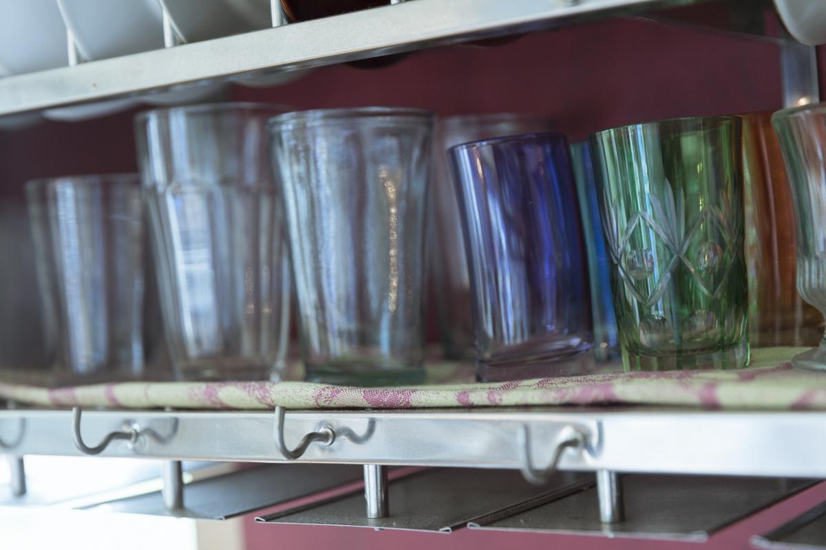 可愛いガラスのグラス
