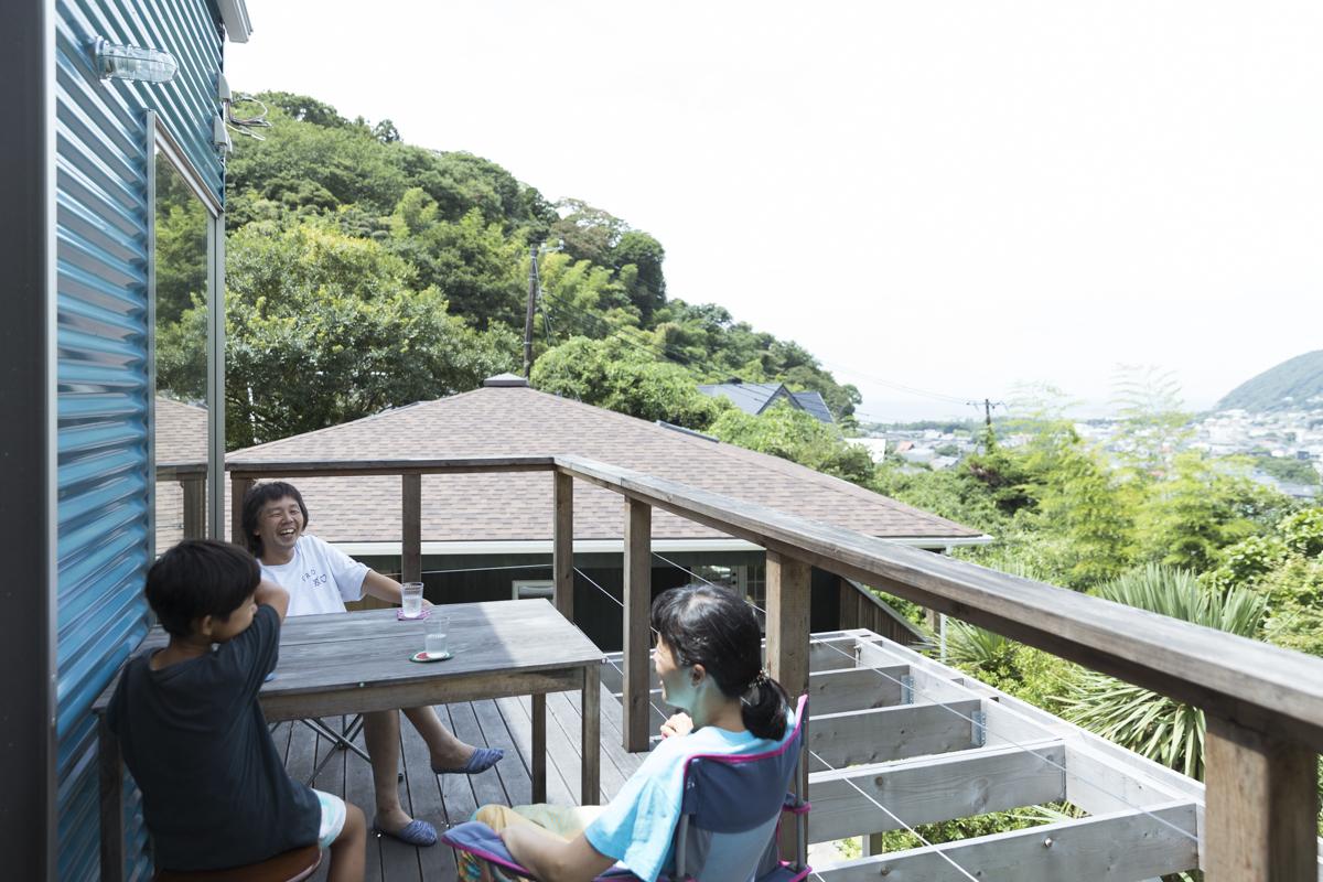 海と富士山が見渡せるベランダ