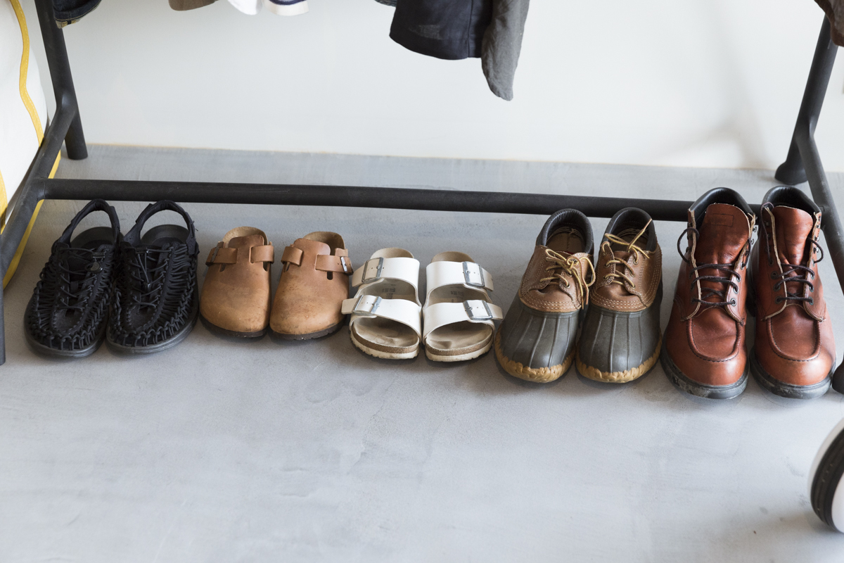 ショップのような靴の収納