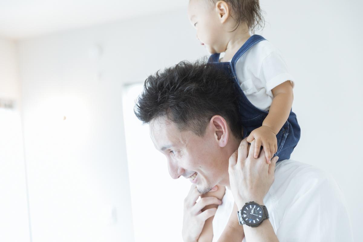 可愛い赤ちゃんとお父さん