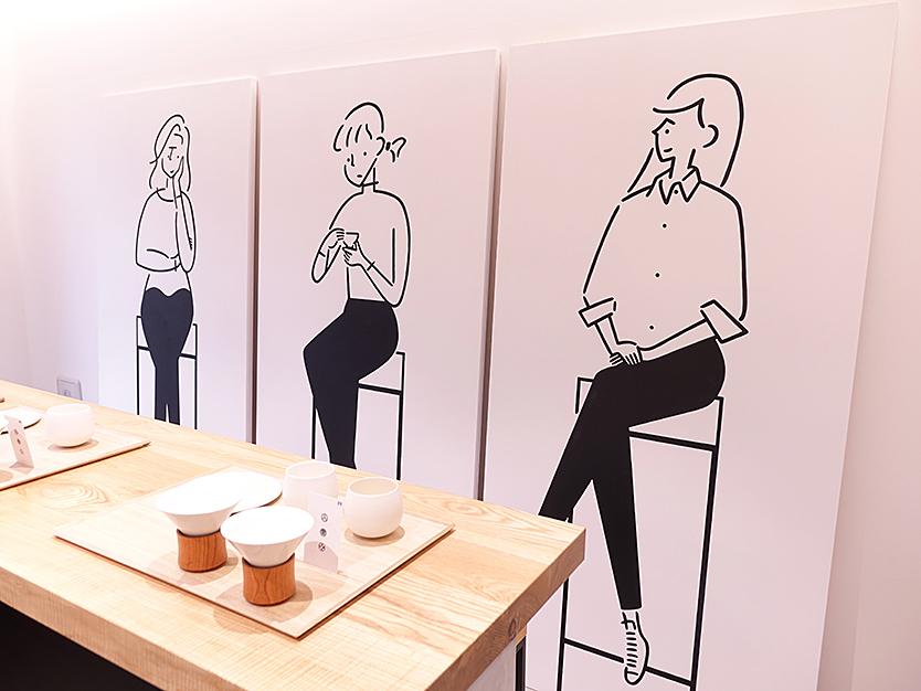シングルオリジン煎茶の【長場雄×東京茶寮】コラボレーションのアート