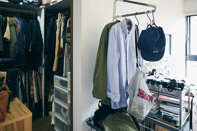 ファッション好きカップルの部屋