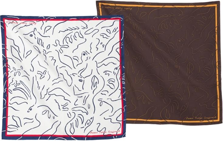 Beau Temps Toujours(ボートントゥジュー)のおしゃれなスカーフ