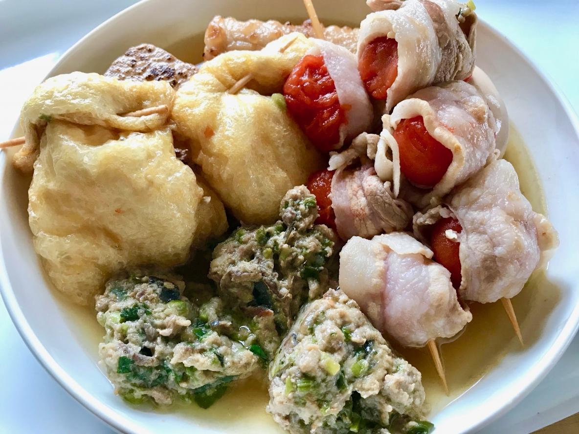 パクチー、ミニトマト、長芋を大胆に使用。「新しいおでんメニュー」のレシピ