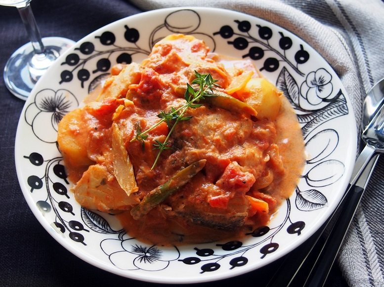 タラのトマトクリーム煮のレシピ