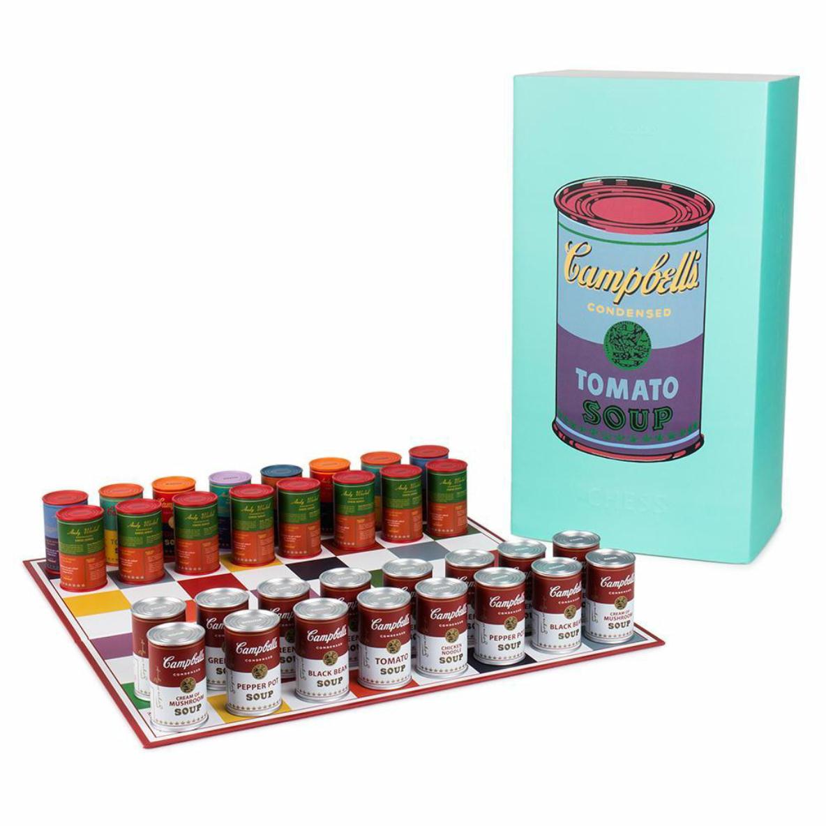 アンディ・ウォーホルのキャンベルのスープ缶のチェス
