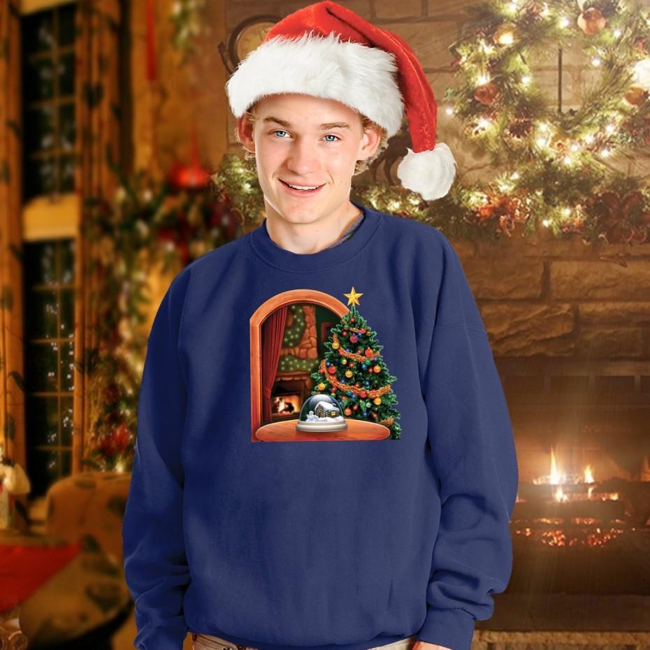 今年のクリスマスはこれで決まり。お腹部分に暖炉映像をセットできるセーター