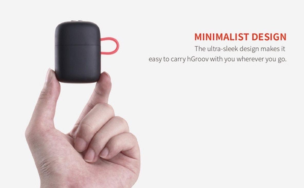 「hGroov」は世界初のワイヤレスで充電できるイヤホン