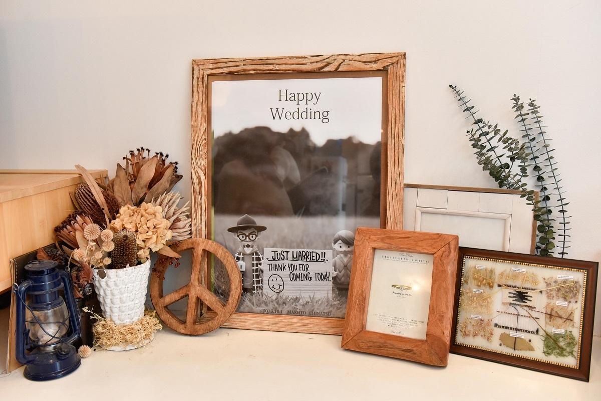 結婚式のウェルカムボードの写真にも使われている