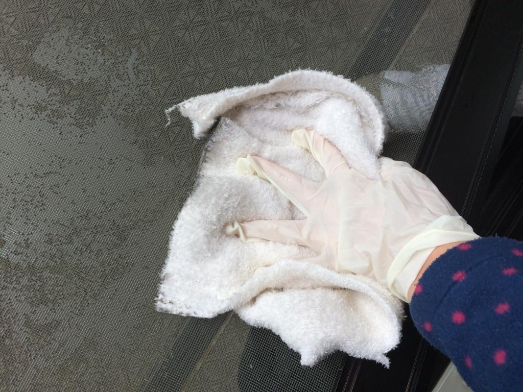 ジェラピケを雑巾として使う独身アラサー女性に、網戸掃除のコツを聞く