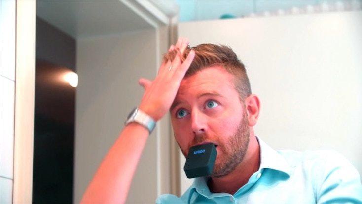 口にくわえて、たった3秒で歯磨き完了。今までになかったスマート歯ブラシ