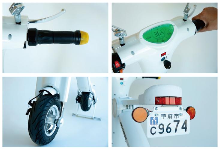 安心設計の折り畳み電動バイク「Cute-mL」