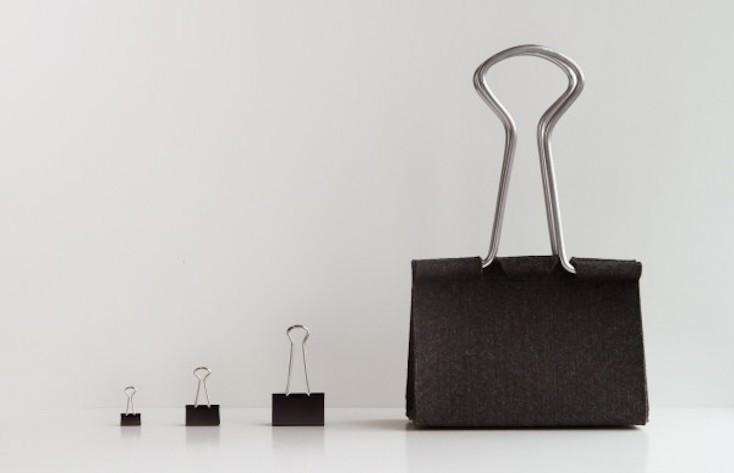 クリップを巨大化させてバッグにしたという「Clip Bag」
