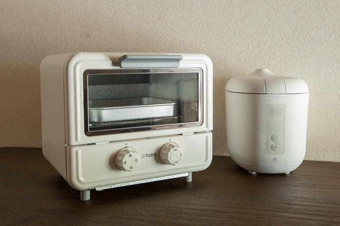 電子レンジをはじめトースターや炊飯器など簡単な食事づくりができるのもうれしいivyCafe NEIGHBOR&WORK