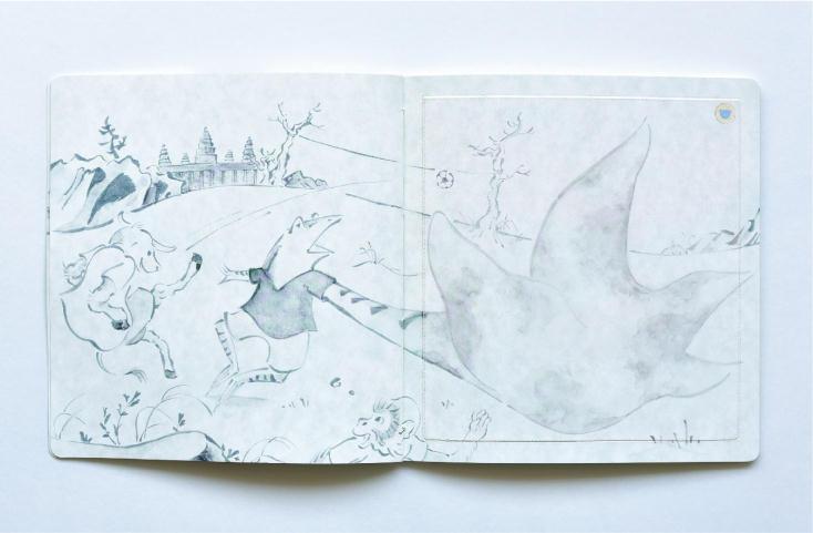 石けんでページを洗うことで物語を楽しむ
