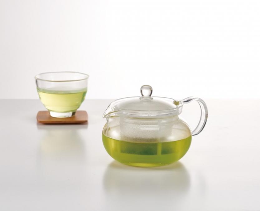 ひと目でお茶の色や量がわかる