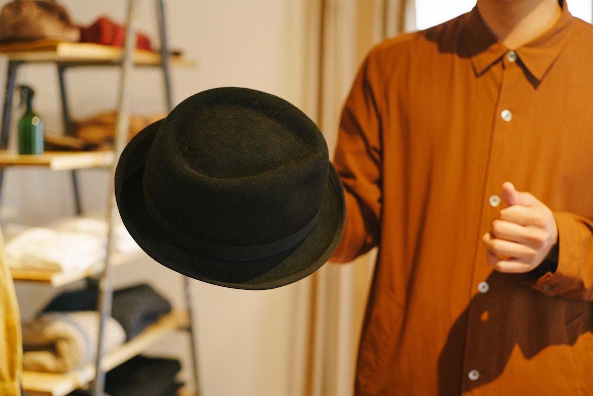 運命的な出会いを果たした帽子