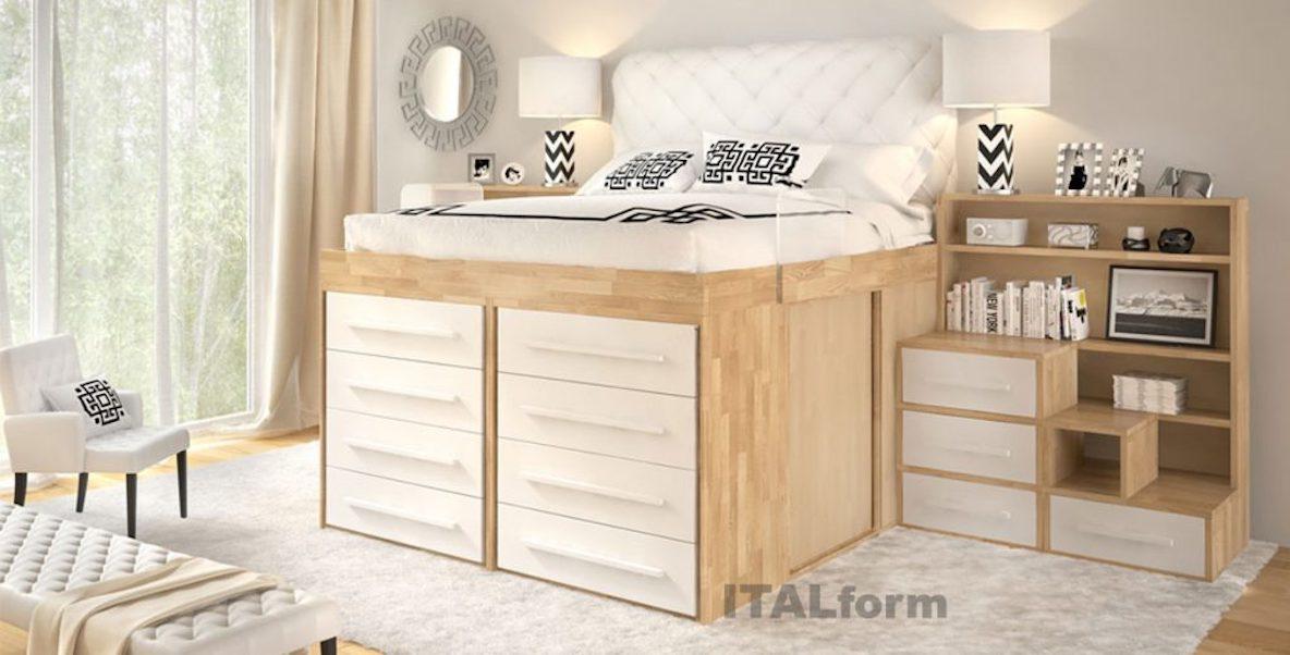 クローゼット級の収納ベッド。これなら狭いベッドルームも有効活用できそうです