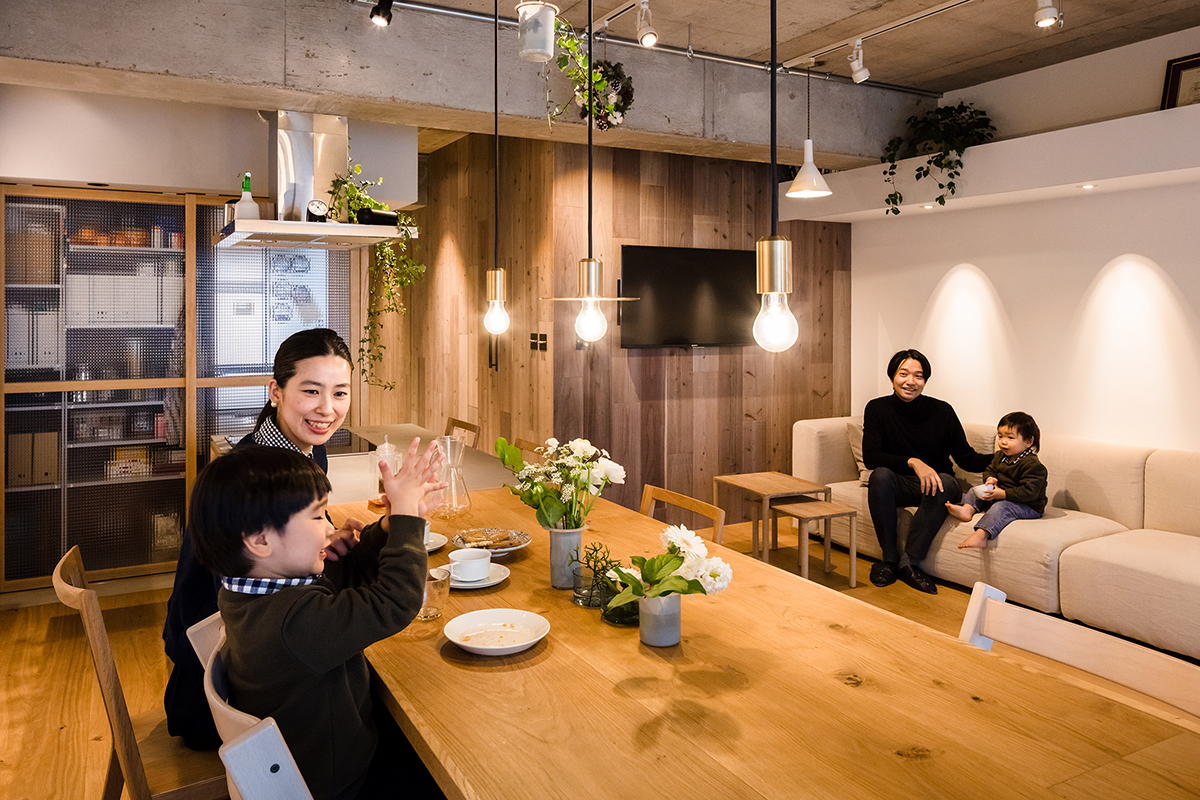55?の小スペース、費用をおさえて家族の快適空間へ(東陽町)|リノベストーリー