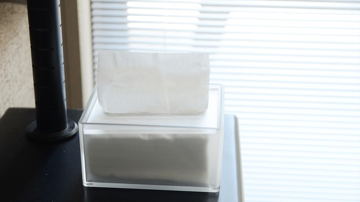 無印の「ティッシュ箱」ならどこに置いても悪目立ちしないんです マイ定番スタイル
