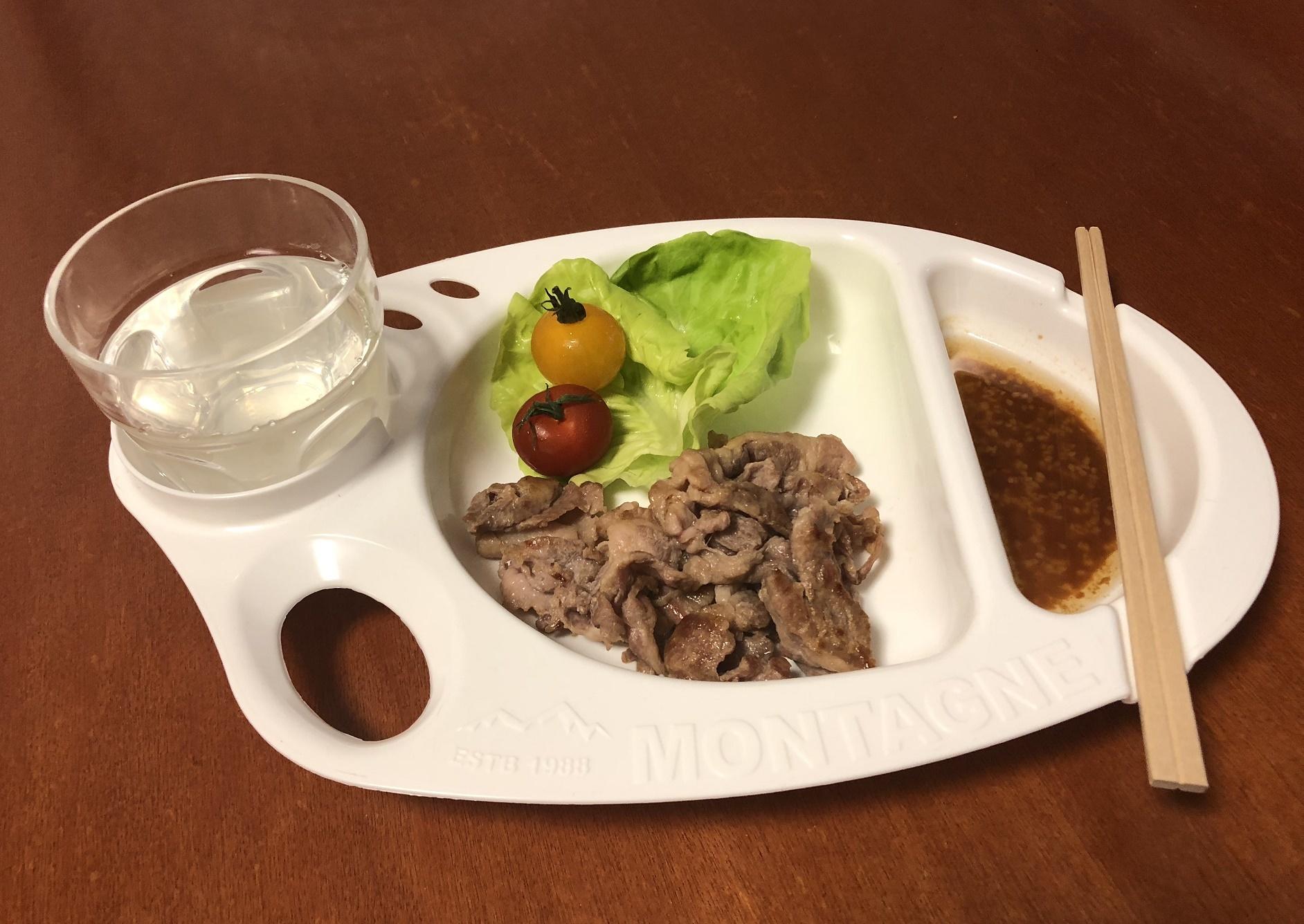 セリアのバーベキュー皿