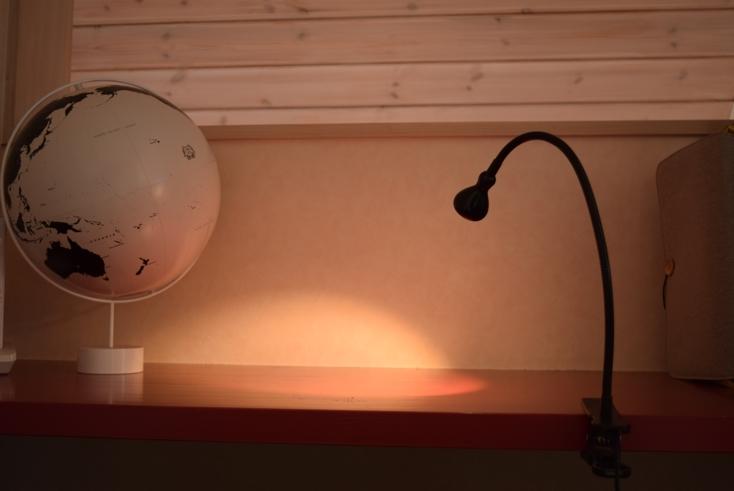 イケアのJANSJÖ ヤンショー LEDウォール/クリップ式スポットライト