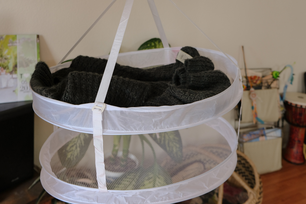 平干しできる衣類干しネット