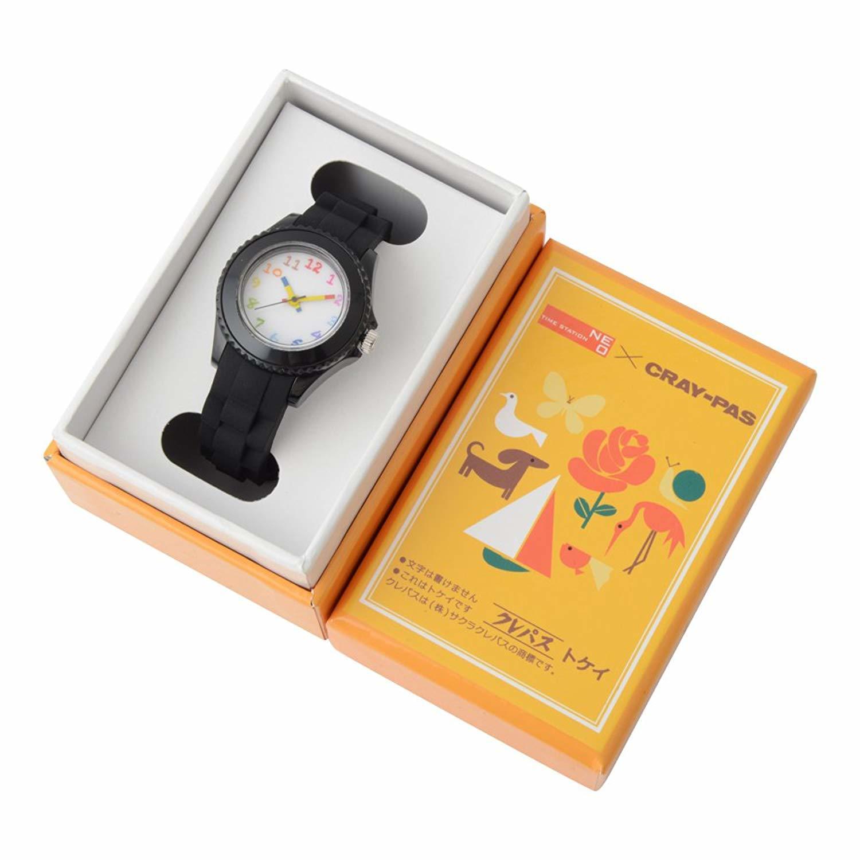 CRAY-PAS × TIMESTATION NEO クレパス柄トケイ
