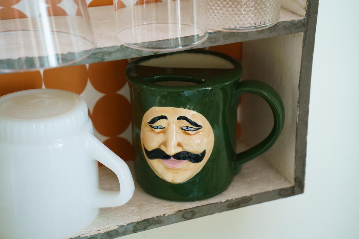 ヒゲが汚れないコーヒーカップ