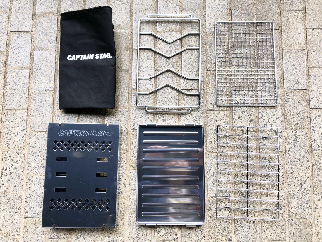 キャプテンスタッグ(CAPTAIN STAG) バーベキューコンロ 焚火台 1台3役 折りたたみ カマド スマートグリル