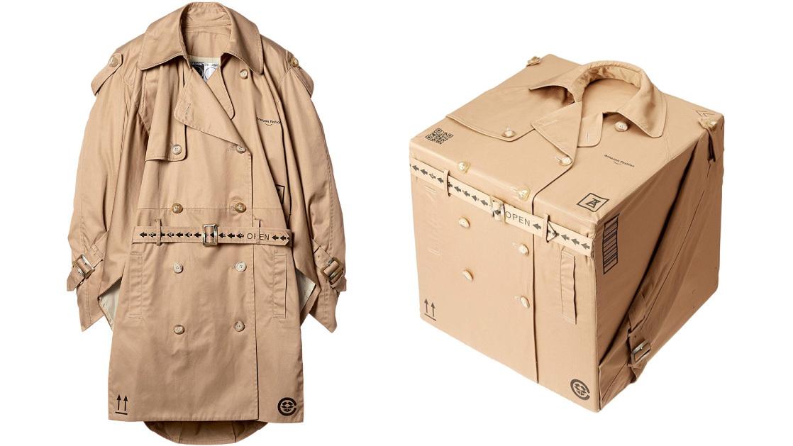 あのファッションブランドの新アイテムは、Amazonのダンボールみたいなコートだった!!