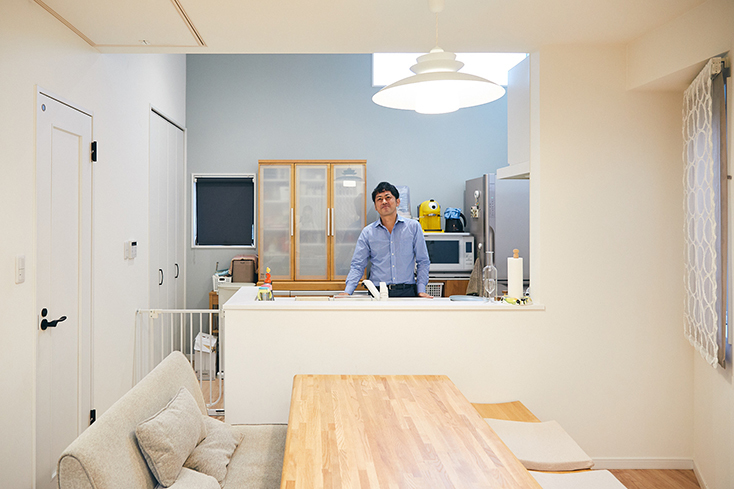 開放的なオープンキッチン