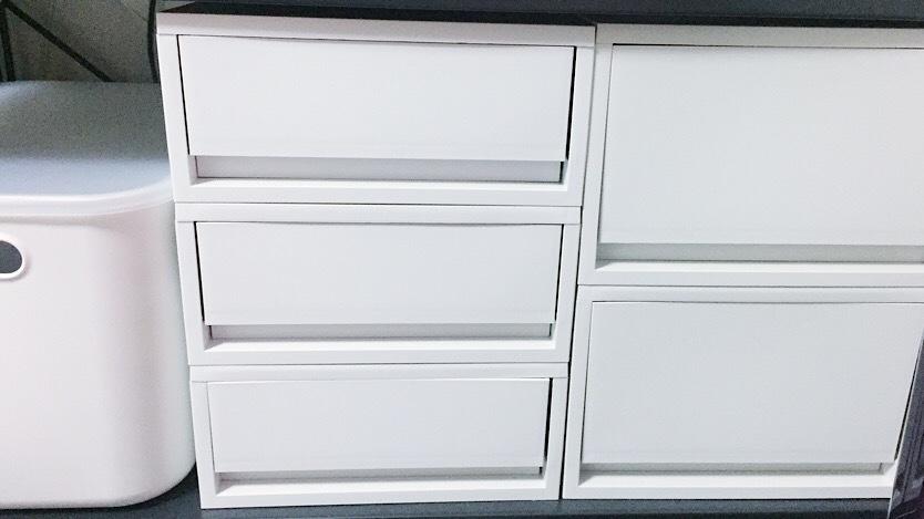 無印良品のポリプロピレンケース ホワイトグレーのイメージ
