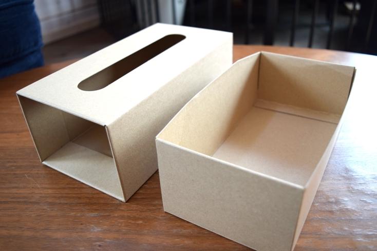 クラフトティッシューボックス・組立式