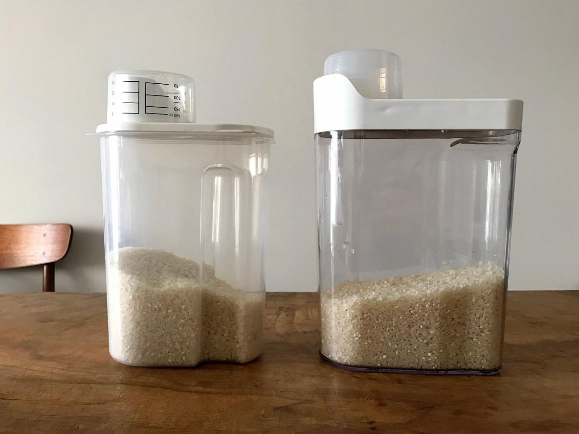 リニューアルした無印の米保存容器を旧タイプと比較!米のまき散らしがさらに減るか…?|マイ定番スタイル