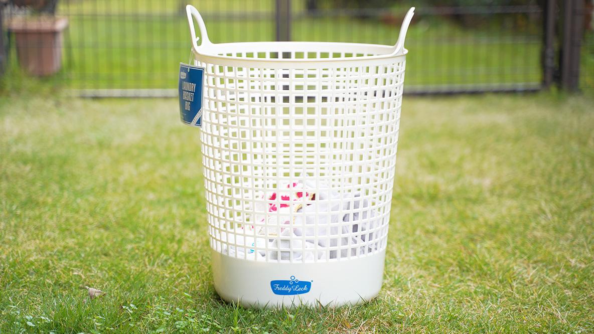 フレディレックのバスケットなら、洗濯物の生活感をキレイサッパリ消してくれますよ〜|マイ定番スタイル