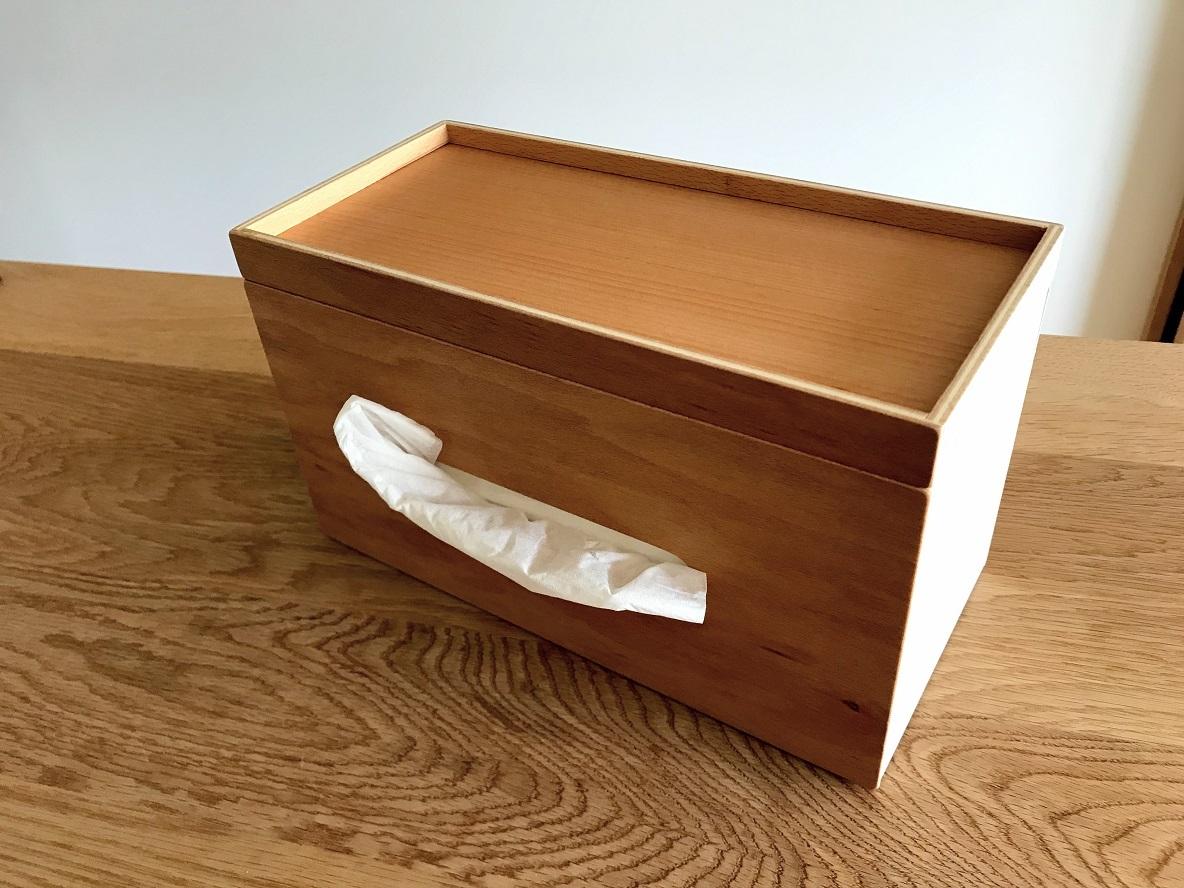 ideacoの木製ティッシュケースのイメージ