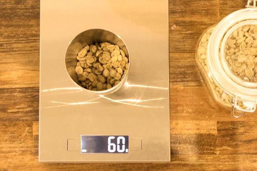 生豆を測る