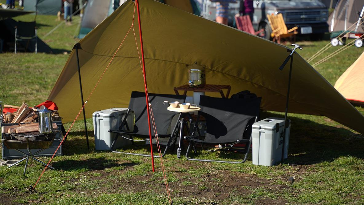 このタープなら昼は涼しく、夜は暖かい。ミニマルなキャンプスタイルに合うね|マイ定番スタイル