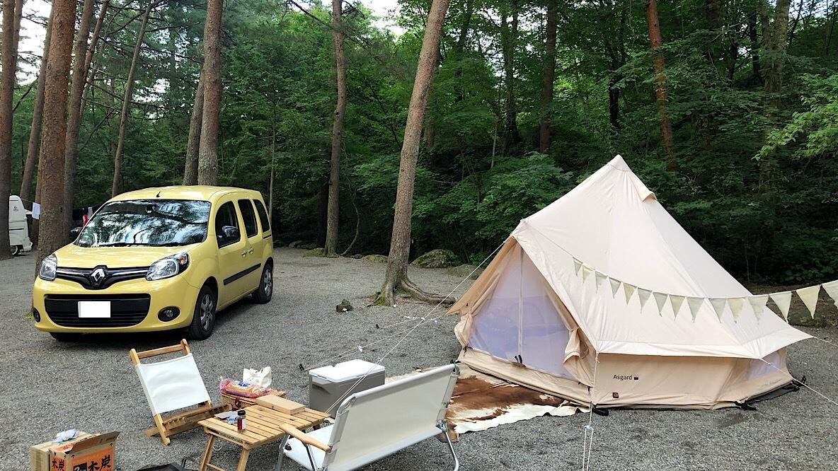 カングーにお気に入りのキャンプ道具を全部積んで、ファミキャンにGOだ! 増税前にコレが買い!