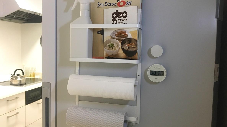 山崎実業の万能ラックにキッチンの必需品をひとまとめ。これだけで作業効率がグンとあがったよ│マイ定番スタイル
