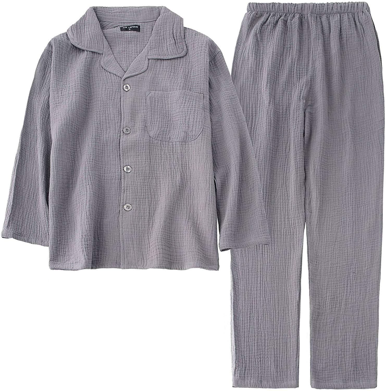 こちらもオススメ:良創 パジャマ メンズ レディース 半袖 長袖 二重 ガーゼ 綿100