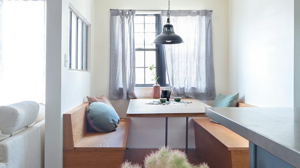 ファミレスをイメージしたダイニングスペースは家族団らんの場所|わたしの部屋