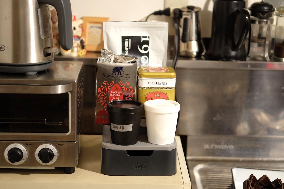 お茶やコーヒーなどのドリンク類 After すっきりと見やすくなった