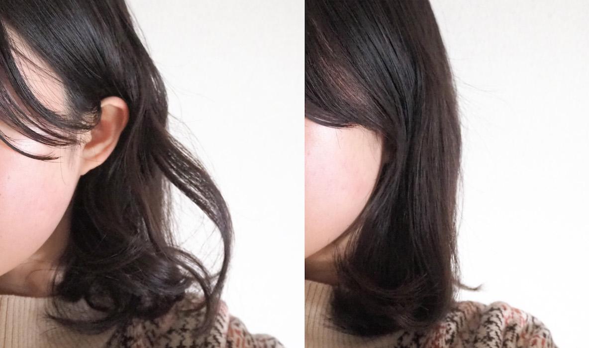 SALONIA サロニア ストレートヒートブラシでセットした髪