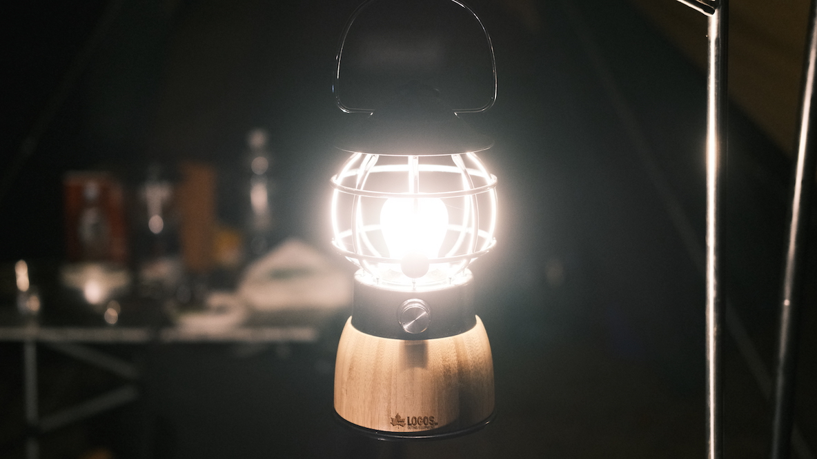 LOGOS 「Bamboo コテージランタン」 暗闇で点灯