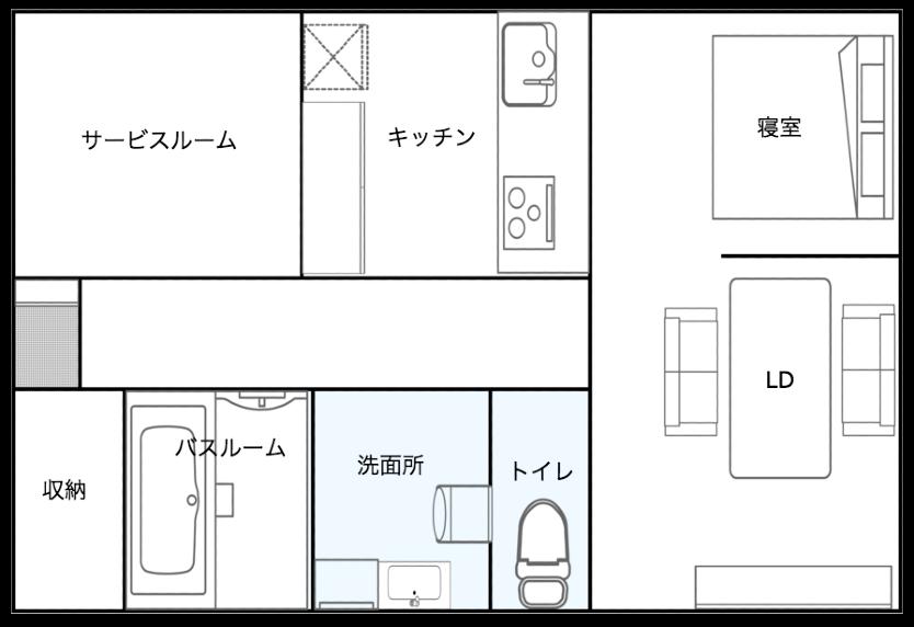 杉並区2Kのリノベーション済みマンションの部屋
