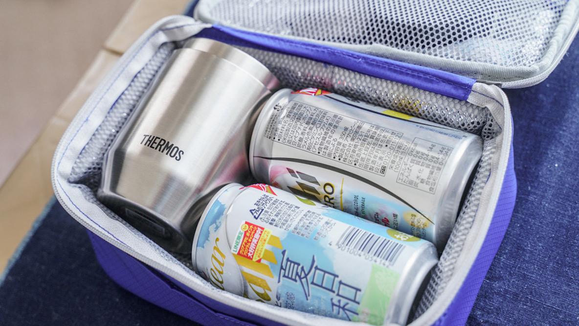 サーモスの真空断熱カップはクージーとしても活躍! ソフトクーラーボックスと合わせれば「夏の飲み過ぎ防止セット」が完成します マイ定番スタイル