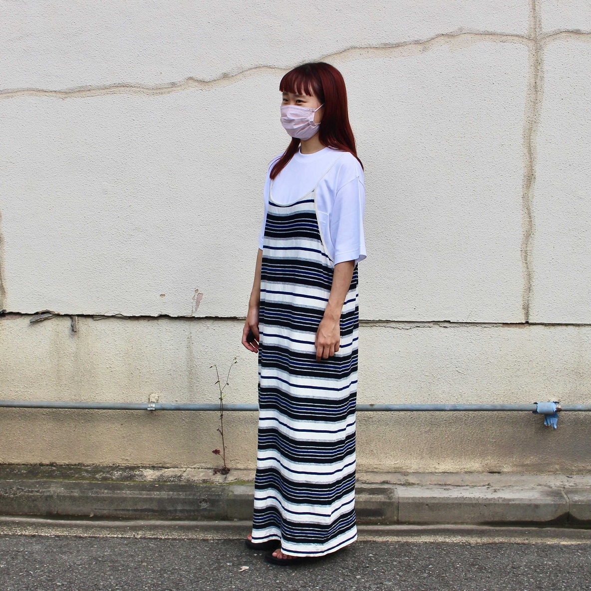 インド綿二重編みビッグTシャツ 男女兼用 キャミワンピ